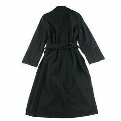 Pole Coco Button Belted Long Jacket Coat 96p Black P4107 No.9455