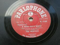 The Beatles A Hard Days Night 1964 Indian 78 Parlophone R.5160 Made In India