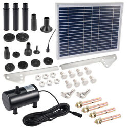 Dc6v-12v 10w Solar Power Fountain Water Pump Panel Kit Pool Pond Submersible