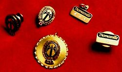 Five Rare 10k Gold And 12kgf Thomasville Furniture Service Pins By Oc Tanner
