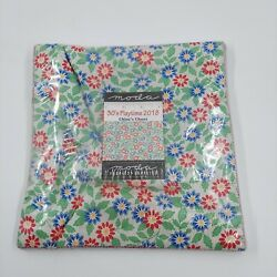 NWT 30#x27;s Playtime Moda Layer Cake 42 100% Cotton 10quot; Precut Quilt Squares
