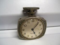 Original 1920 Andlsquos- 1930s Vintage Dash Auto Clock Time Dial 40s Old Ford Gm Chevy