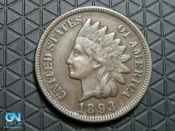 1893 Indian Head Cent Penny -- Make Us An Offer K6293