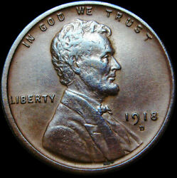1918-d Lincoln Cent Wheat Penny ---- Nice Lot ---- S599