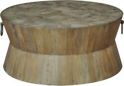 Sarreid Coffee Table Cocktail Industrial Driftwood Brown Old Wood Recl