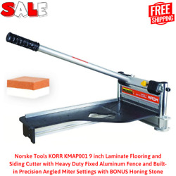 9 Inch Laminate Flooring And Siding Cutter With Heavy Duty Fixed Aluminum Fence