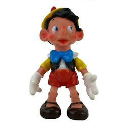 Vintage Pinocchio Squeak Rubber Toy Doll Disney Productions Very Rare 14 Tall