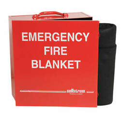 Sellstrom S97456 Fire Blanket And Cabinetcarbon Felt