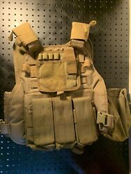 Rothcoe Molle Plate Carrier W/ Triple Mag Pouch And Admin Pouch