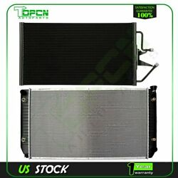 Fits Chevrolet C2500 C3500 K2500 K3500 Replacement Radiator And Condenser Assembly