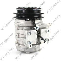 A/c Compressor With Clutch T0070-87290 For Kubota M9000-cab M9000dt-cab Tractors