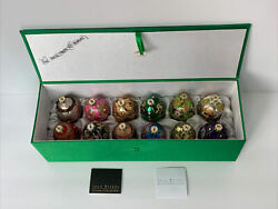 Joan Rivers 2017 Russian Faberge Easter Egg Christmas Ornaments Set Of 12 In Box