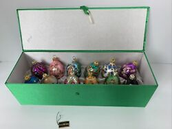 Joan Rivers 2010 Russian Faberge Easter Egg Christmas Ornaments Set Of 12 In Box