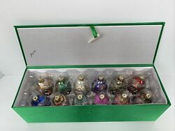 Joan Rivers 2016 Russian Faberge Easter Egg Christmas Ornaments Set Of 12 In Box