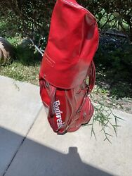 Vintage/rare King Of Beers Budweiser Gold Bag Mint Rain Cover - Red Leather