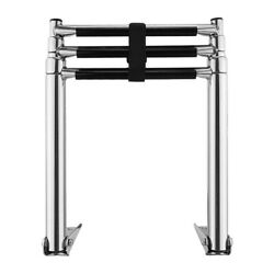 Marine 3-step Telescoping Extendable Boarding Ladder For Boat Yacht/swimming