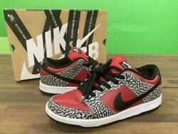Nike Sb Dunk Low Premium X Supreme Red Cement 313170 600 Size Us 9.5 With Box