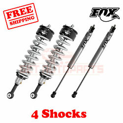Kit 4 Fox Shocks Front 0-2 And Rear 0-1 Lift For Toyota Tundra 2000-2006