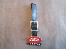 Vintage Ford Tractor Key Fob With Leather Strap