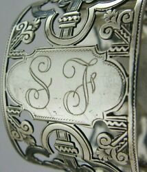 English Sterling Silver Pierced Napkin Ring 1896 Victorian Antique