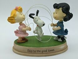 2011 Figurine Skip To The Good Times Snoopy Lucy Sally Peanuts Jump Rope