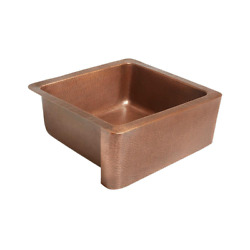 Farmhouse Kitchen Sink Apron Front Handmade 25 In. Single Bowl In Antique Copper