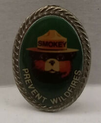 Smokey The Bear Prevent Wildfires Rare Pin Tie Hat Lapel Us Forest Service
