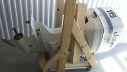 Johnson115 Outboard Boat Motor 1997 For Parts Or Repair. No Propeller