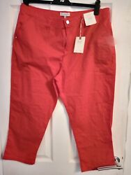 New Tags Red Florence And Fred Three Quarter Trousers