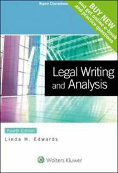 Aspen Coursebook Ser.: Legal Writing and Analysis by Linda H. Edwards 2015 Tra
