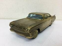 Showa Retro Cadillac Gold 19.3cm Vintage Tin Made In Japan Things At The Time A2