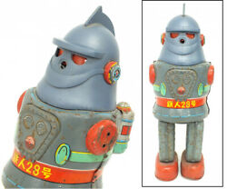 Things At The Time 1960 Tetsu-man-28 No2 Electric Walking Tin Toys Made By