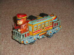 Old Tin Monkey Train Made In Japan Unknown