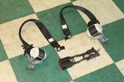 15-17 Expedition Black Third 3rd Row Rear Seat Belt Retractor Pair 2x Buckles Oe