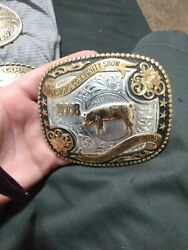 Lot Of 4 Western Champion Belt Buckles In Great Condition