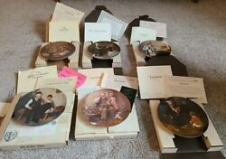 Norman Rockwell Limited Edition Knowles Collectors Plates Lot Of 6 All Coa