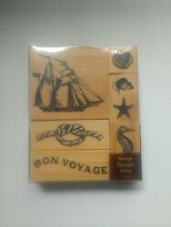Nautical Theme Rubber Stamps - Lot Of 7