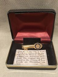 Nasa Alan Bean 1969 Key To City Of Fort Worth Tx Replica Tie Clasp In Box