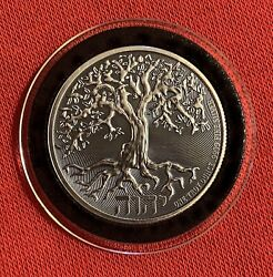 2019 Niue 1 Troy Ounce .9999 Silver Antiqued Finish - Tree Of Life - Low Mintage