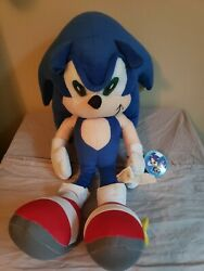 Toy Network Sonic The Hedgehog Approx 18andrdquo Rare Plush Toy 2006 Anniversary