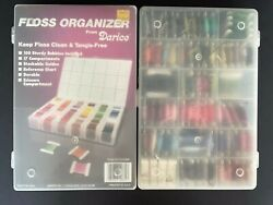 Huge Lot Of 150+ Embroidery Floss Thread 2 Plastic Boxes And Extra Cards