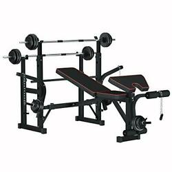 Adjustable Multifunction Foldable Weight Bench And Fitness Barbell Rack Commerci