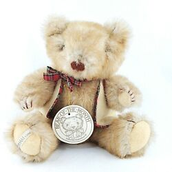 Vintage Gorham Collection Sebastian Bear 1984 Plush Posable Tag Jointed 12 Inch