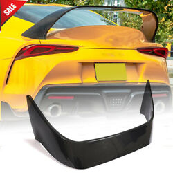 Dry Carbon Fiber Rear Trunk Spoiler Wing Lip For Toyota Supra A90 Coupe 2019-21