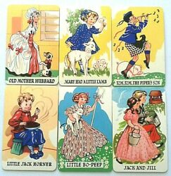 Vintage Playing Cards Card Game Chad Valley Nursery Rhyme Snap Queen Mother 1936