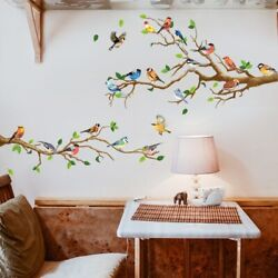 Bird Tree Branch Wall Stickers Bedroom Living Room Decoration Removable Stickers