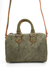 Readymade Canvas Vintage Army Tent Nano Over Night Bag Green