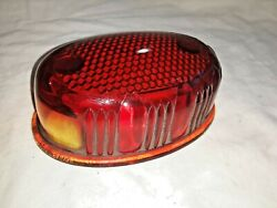 Nu-ray Oval Tail Light Lens Glass With Clear License Light Window - Ms839
