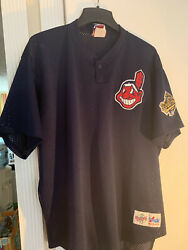 Majestic Diamond Collection Cleveland Indians World Series 1995 Navy Jersey Xxl