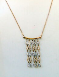 Ethnic Vintage 22k Gold Necklace Choker Chain Free Ship